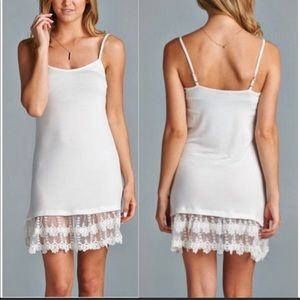 8c2de390b54a86 Other - Slip extender with lace in off white